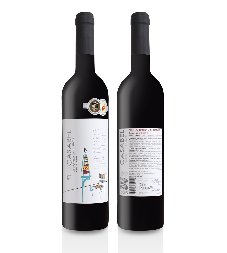 Red Wine Casabel 2016, 75cl Lisboa