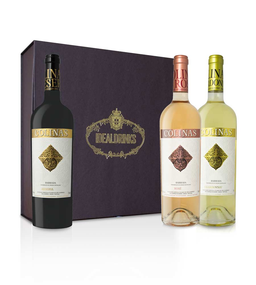 Pack Deluxe Colinas Red White Rosé 75cl Bairrada