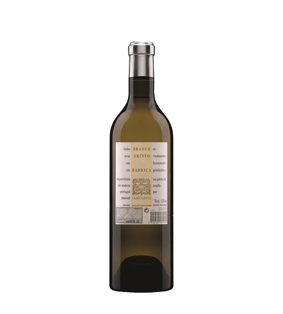 White Wine Campolargo Arinto Barrica 2017, 75cl Bairrada